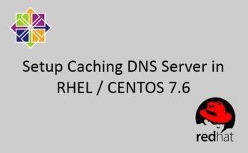 How to setup Caching DNS Server in CENTOS/RHEL 7.6 70