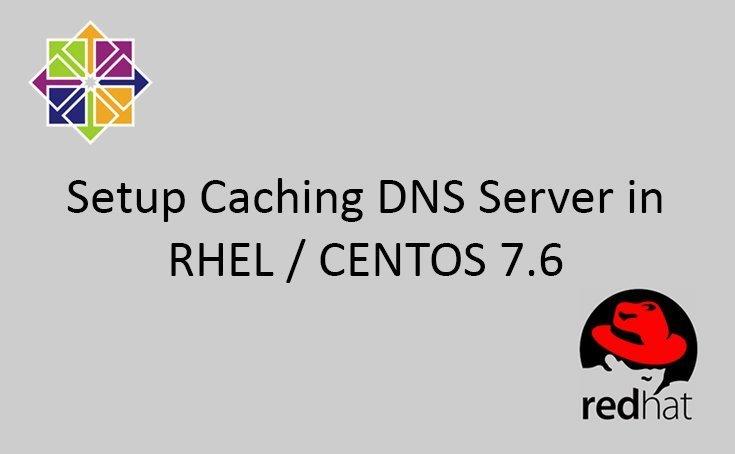 How to setup Caching DNS Server in CENTOS/RHEL 7.6 1