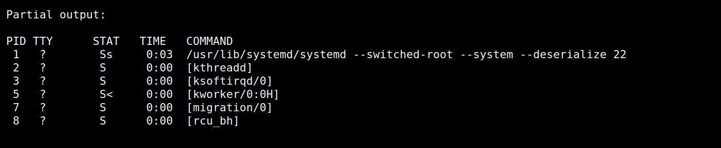 Come usare ps -x nel comando linux