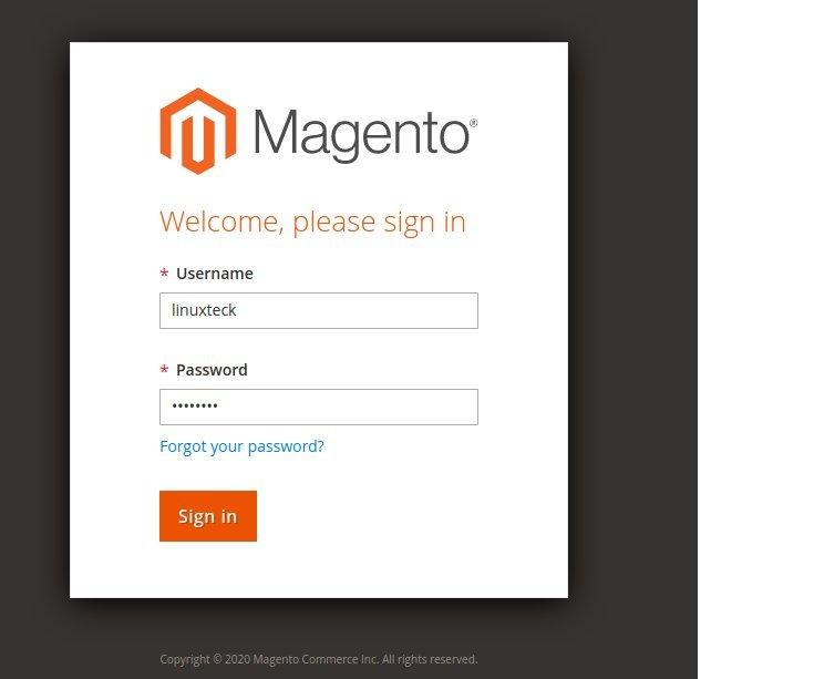 Launch Magento Admin